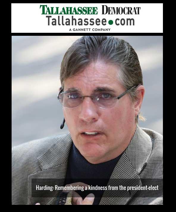 JR Harding Tallahassee Democrat article