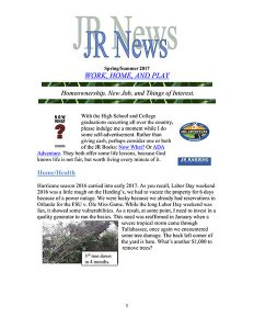 JR Harding Newsletter 2017